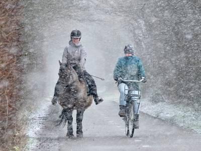 Sneeuw in het zuidwesten, later vandaag kleurt heel Nederland wit