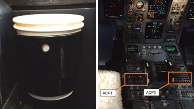 Er ontstond rook in de cockpit nadat de piloot koffie had gemorst op de bedieningsapparatuur.