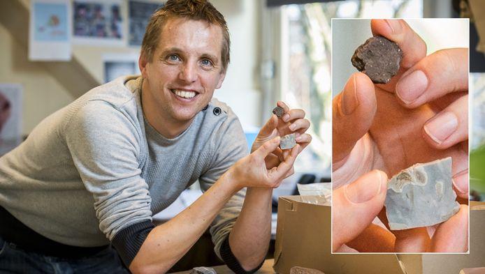 Archeoloog Matthijs Wijker.