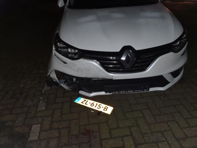 De vernielde auto van Samantha Bolleboom