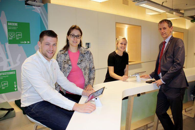 Bnp Paribas Fortis opent een nieuw type kantoor in de Kapellestraat in Oostende Be.connected