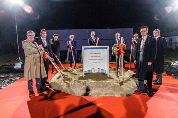 Op de foto onder andere gouverneur Reynders, Stijn Bijnens LRM, Veerle Heeren, Cor Van Otterloo en Marc De Wind