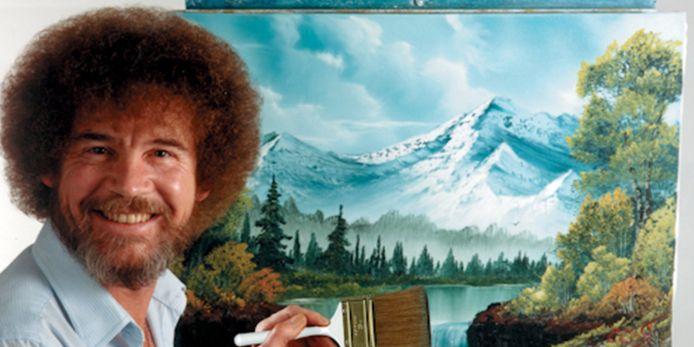 'The Joy of Painting with Bob Ross' werd een hit in coronatijden.