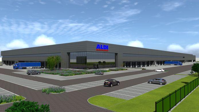 Zo gaat het nieuwe distributiecentrum in Deventer eruit zien. De nieuwbouw betekent dat het logistieke centrum in Ommen dichtgaat.