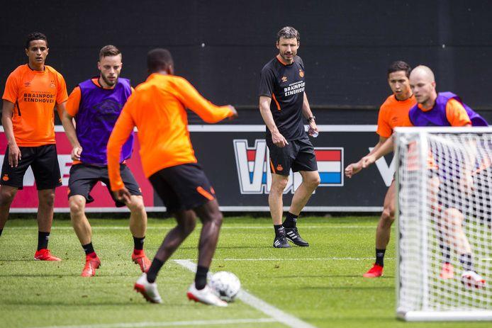 Beeld van de training van PSV.