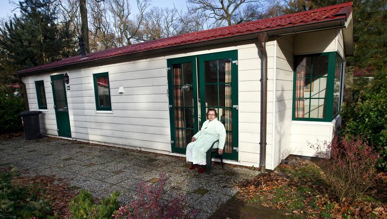 Vakantiepark Duinrell in Wassenaar bood tijdelijk onderdak aan 600 personen afkomstig uit verschillende landen. Beeld anp