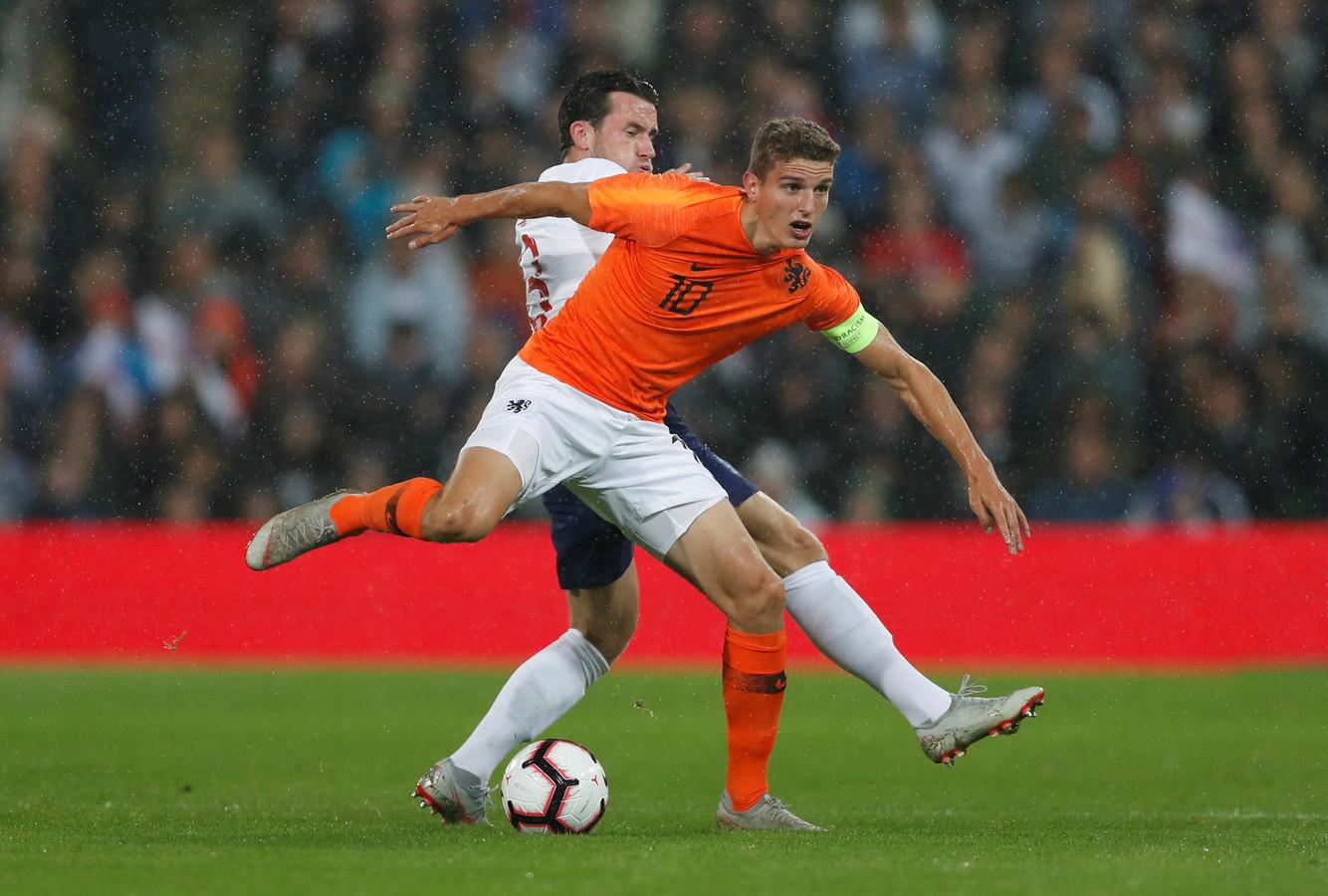 Guus Til tijdens de wedstrijd van vorige week tegen Engeland.