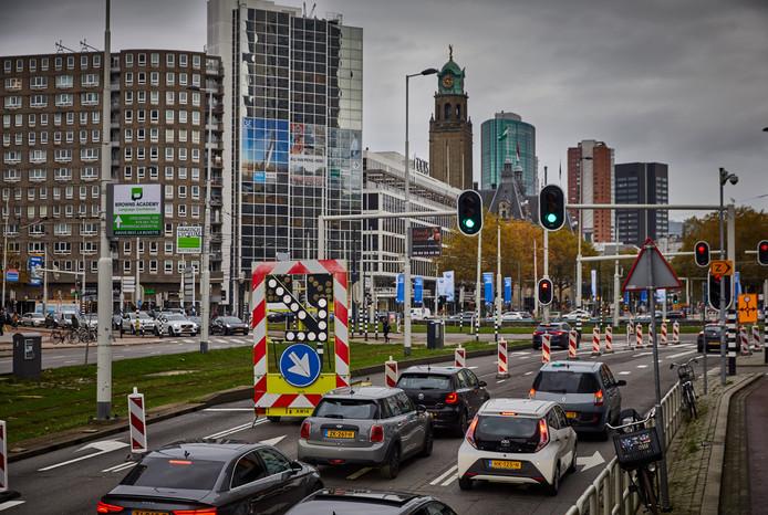 Het Hofplein is moeilijk te bereiken.