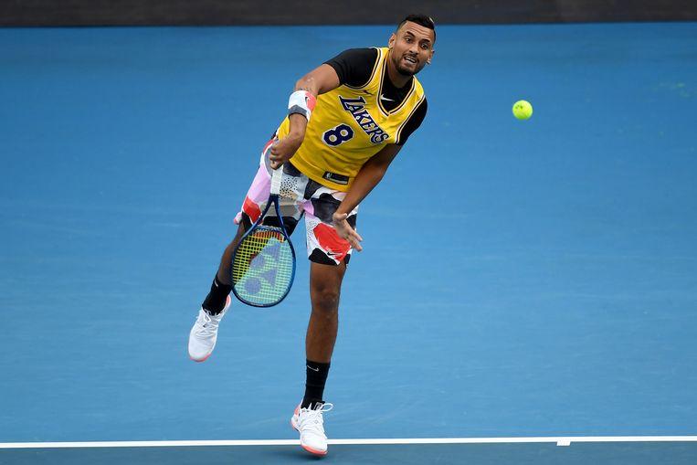 Australische tennisser Nick Kyrgios. Beeld EPA