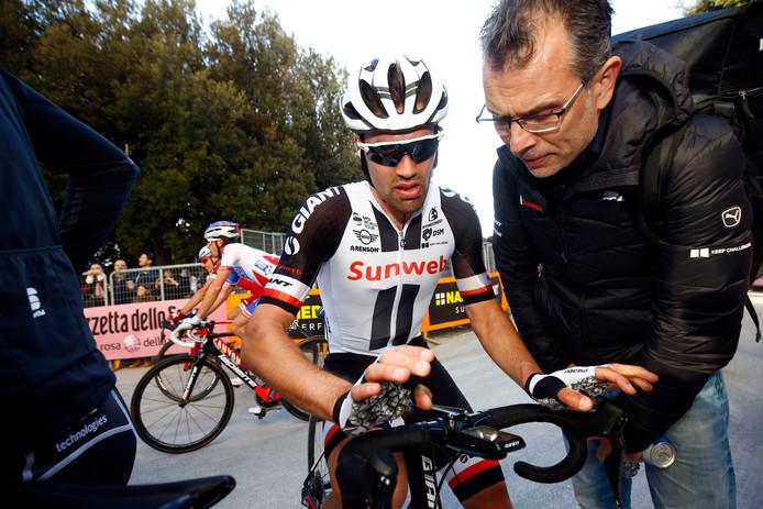 Tom Dumoulin tijdens de Tirreno.