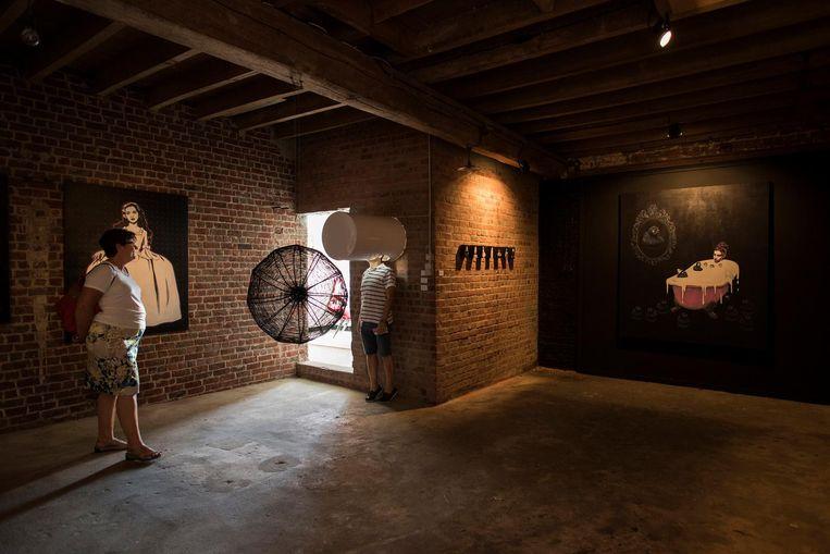 Een blik op de installatie in De Graanschuur.