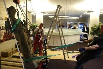 Vrouwe Justitia alvast verhuisd naar nieuwe gerechtsgebouw in Breda