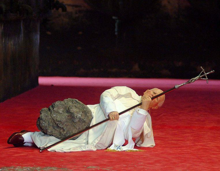 Het Negende Uur van Maurizio Cattelan. Beeld AP