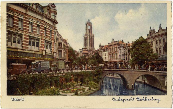 Ingekleurde ansichtkaart uit 1930.