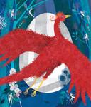 De cover van het prentenboek 'De Vuurvogel' , getekend door Djenné Fila.