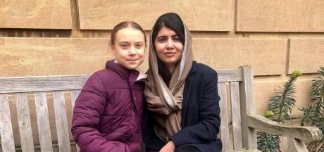 Greta Thunberg ontmoet 'rolmodel' Malala