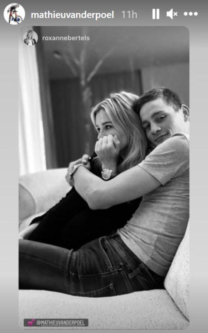 Mathieu van der Poel met vriendin Roxanne Bertels.