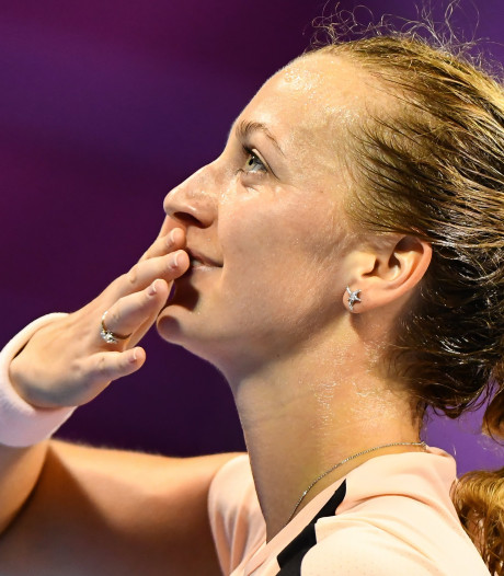 Kvitova in marathonpartij langs Wozniacki