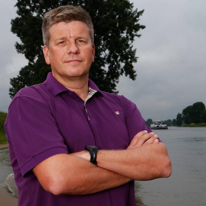 Milko van Gool, de eerste Europeaan van het vasteland die het Noordkanaal is overgezwommen.