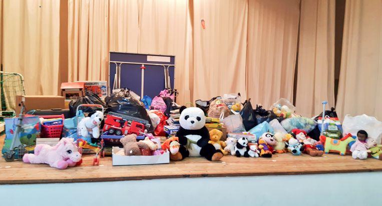 Een podium vol speelgoed