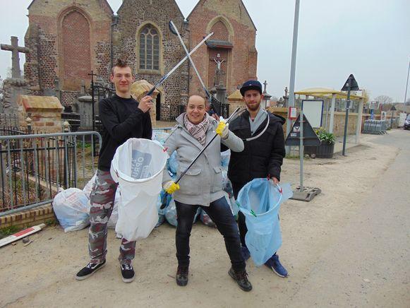 Zwerfvuilactie Poperinge 2019 - Orde van de Wietewoai's
