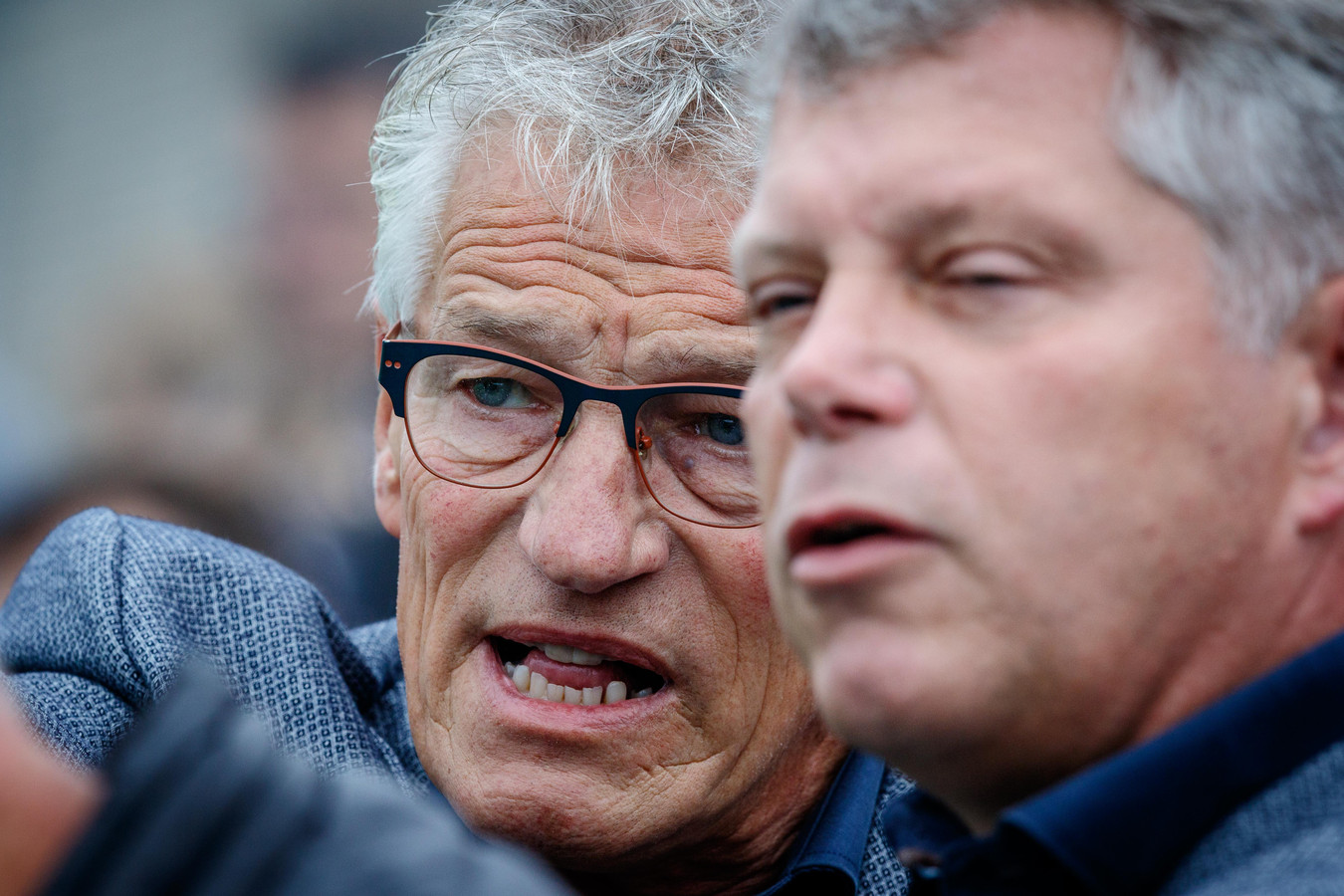 Jan Derk Brandsma (l) heeft een lang palmares opgebouwd als trainer, maar komend seizoen is hij elftalleider bij d'Olde Veste.