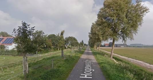 De Hogewegdijk in Hoofdplaat.