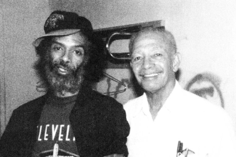 Gil-Scott Heron en zijn vader Gil Heron Beeld -