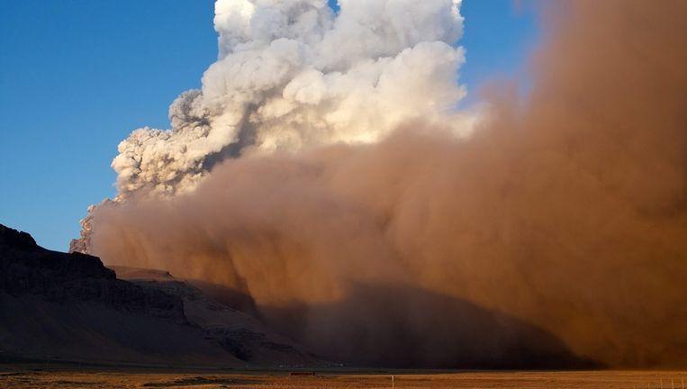 De vulkaanuitbarsting in iJsland. Foto ANP Beeld