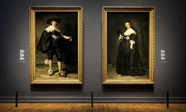 Portretten van het echtpaar Marten Soolmans en Oopjen Coppit Beeld anp