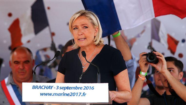 FN-voorzitster Marine Le Pen.