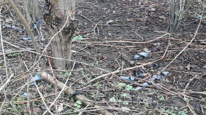 Vervuiling in abdijbos Vlierbeek