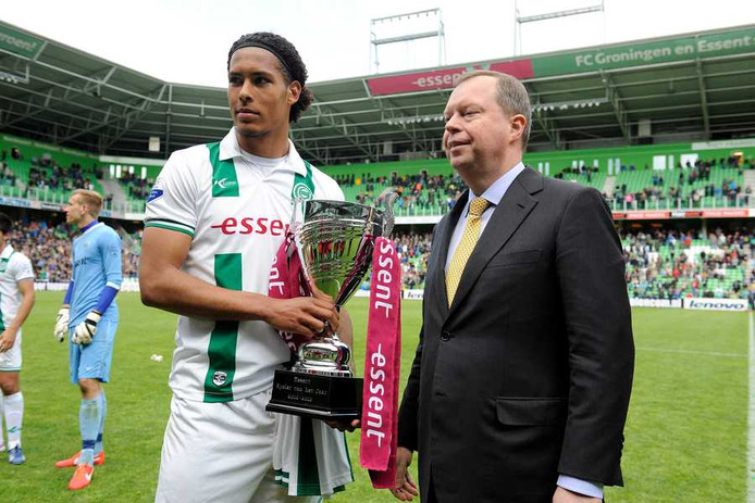 Virgil van Dijk werd dit door de fans van FC Groningen gekozen als speler van het seizoen.