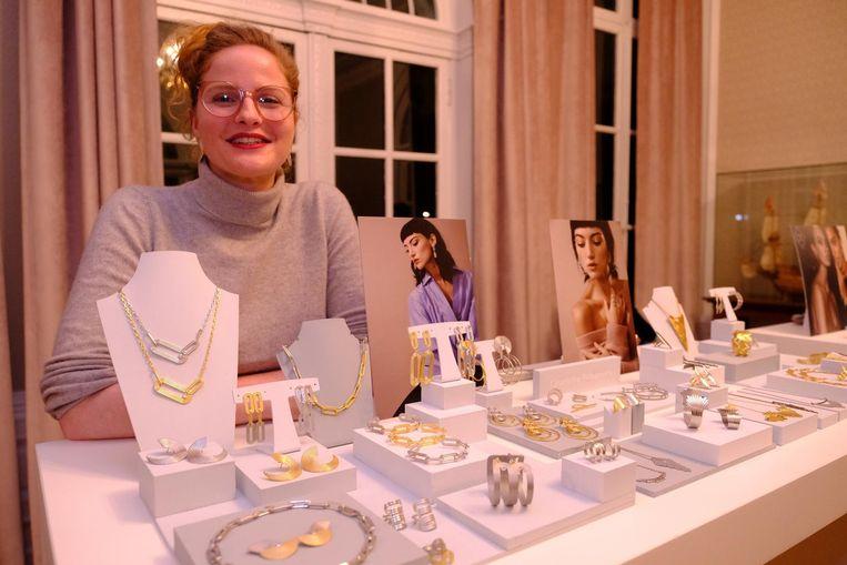 Charlotte Valkeniers tijdens haar expo van vorig jaar.
