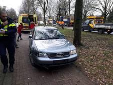 Automobiliste gewond bij botsing tegen omgevallen boom