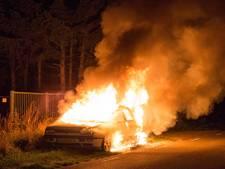 Gedumpte auto brandt uit op Beatrixweg in Sint Willebrord