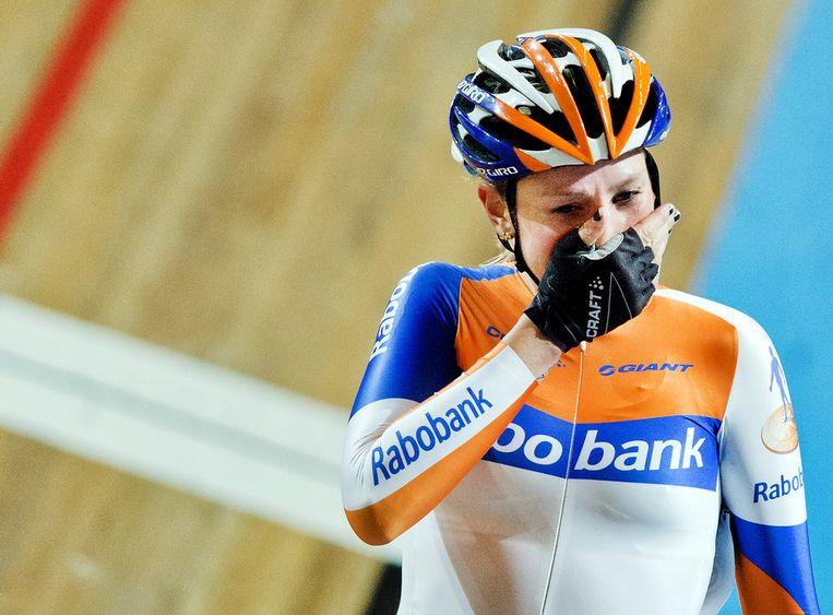Roxane Knetemann tijdens het NK Baanwielrennen Beeld anp