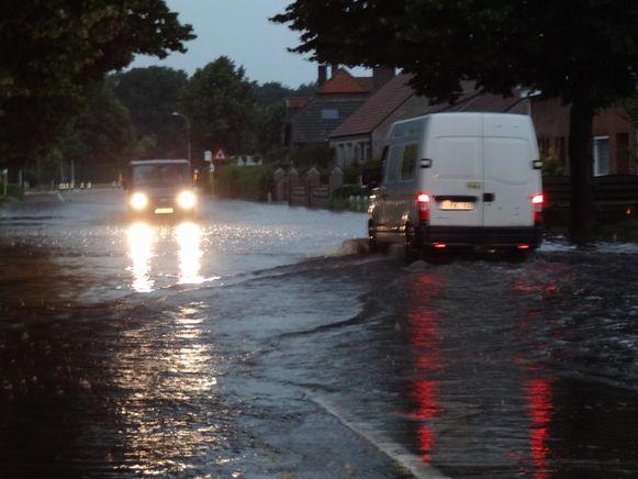 Archieffoto van wateroverlast in Mol