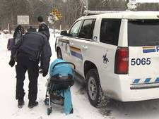 Hopeloze vluchtelingen van VS naar Canada door vrieskou