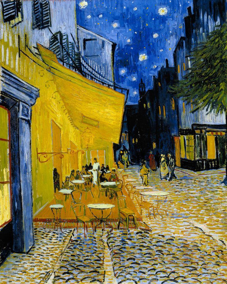 Vincent Van Gogh, Caféterras bij nacht (Place du Forum), circa 16 september 1888. Beeld Stichting Kröller-Müller Museum