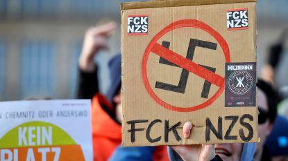 Honderden mensen demonstreren tegen mars van neonazi's in Dresden