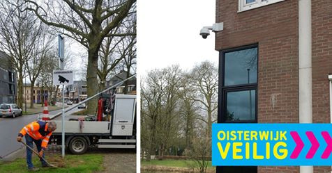 De gemeente heeft een begin gemaakt met het ophangen van camera's in het centrum van Oisterwijk.