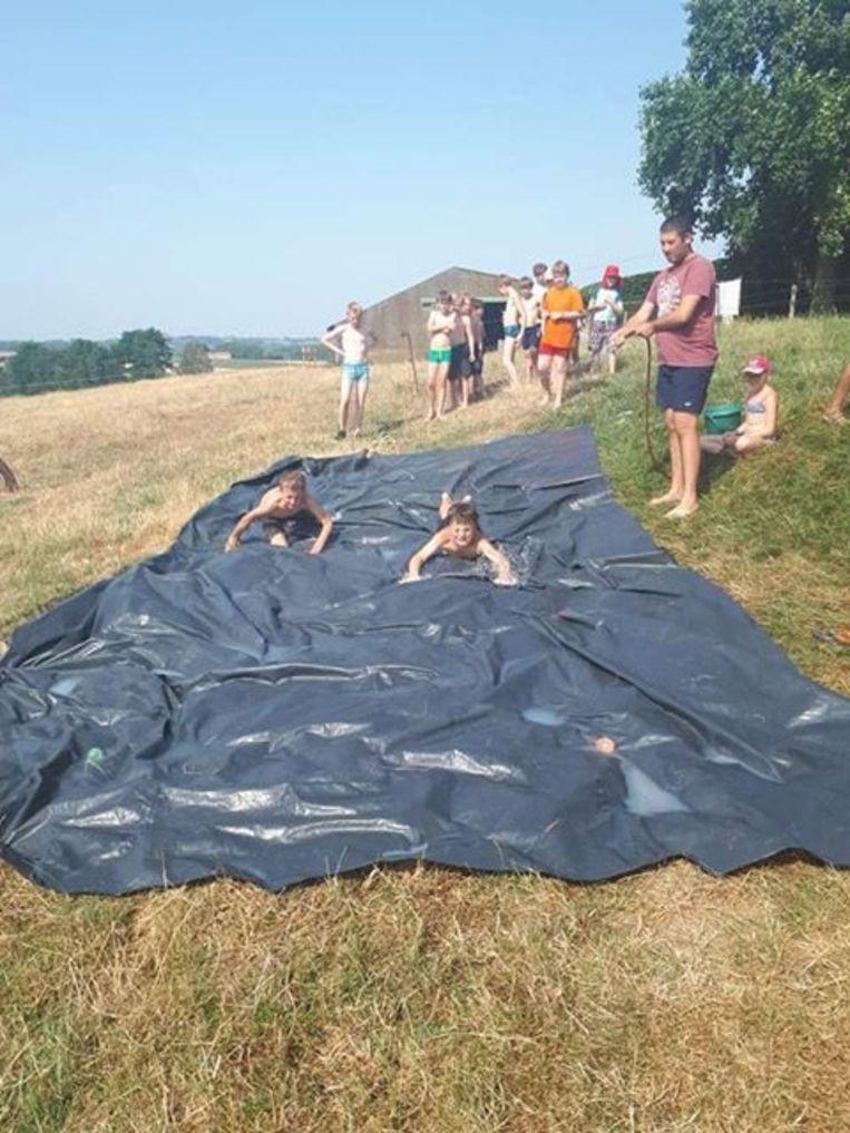 Scouts Kievit Erpe-Mere op kamp in Maarkedal.