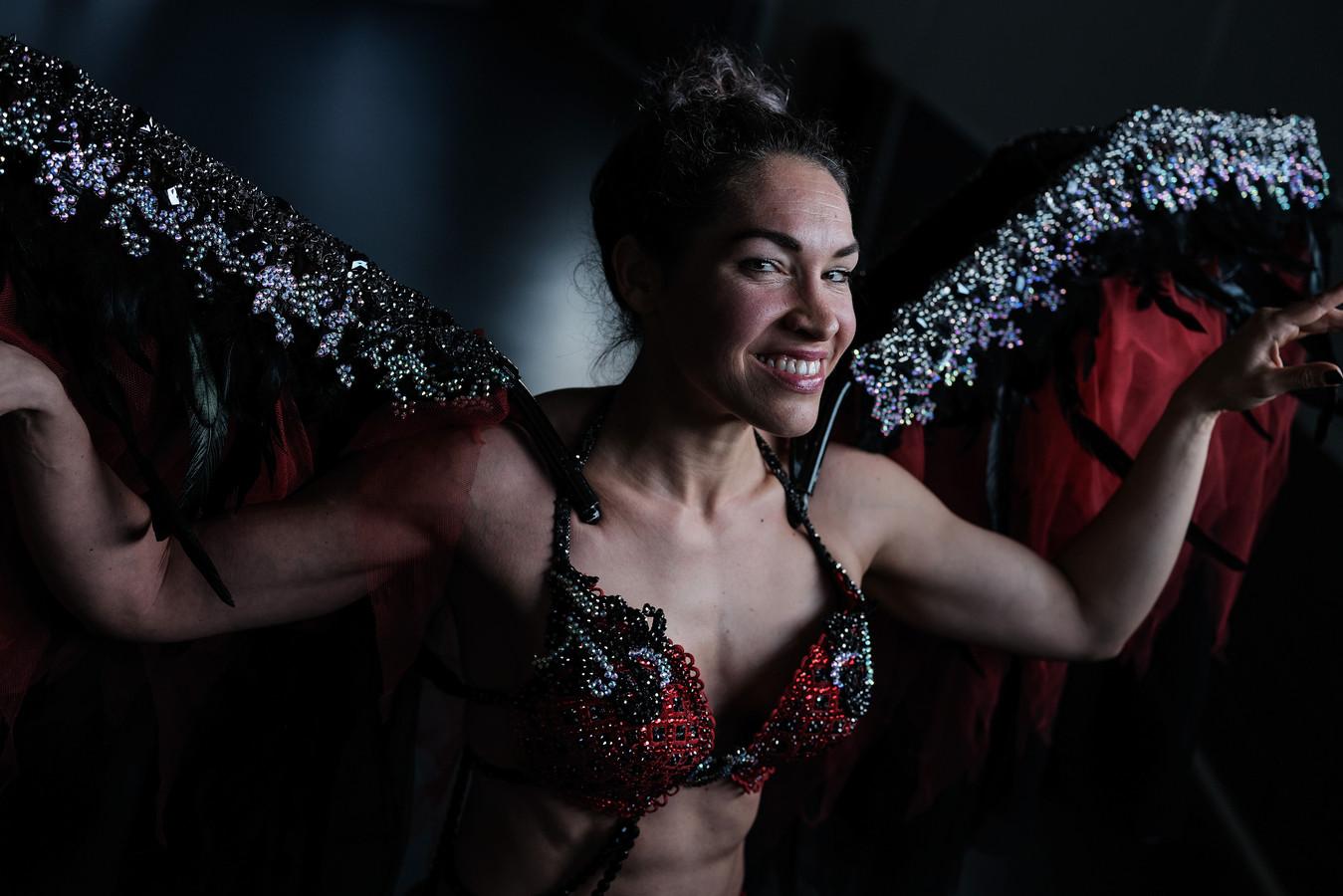 Anke IJsveld bereikte in de nacht van vrijdag op zaterdag de wereldtop natural bodybuilding in Las Vegas. Foto : Jan Ruland van den Brink