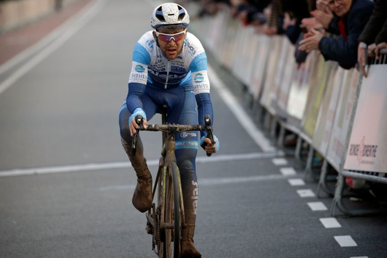Robbert de Greef tijdens de Ronde van Drenthe in het Nederlandse Hoogeveen.