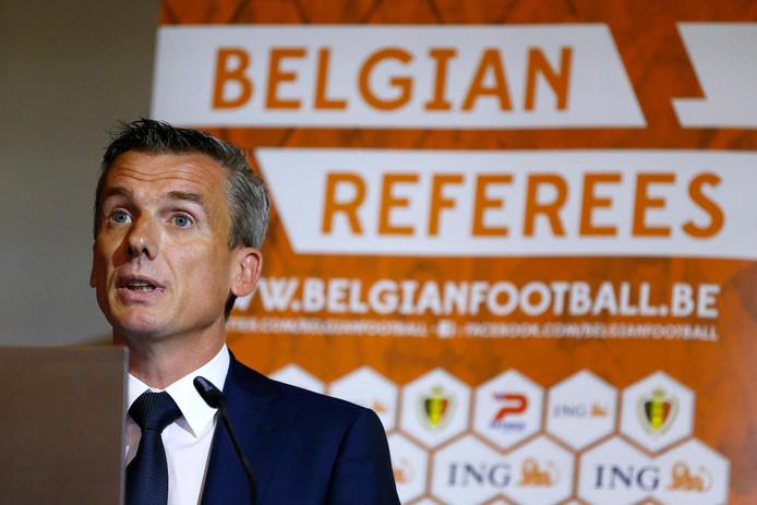 Johan Verbist, responsable des arbitres du football professionnel.