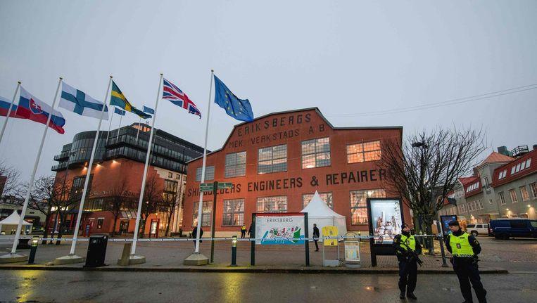 De plek in Göteborg waar de EU-leiders vandaag hun handtekening onder de Europese Pijler voor de Sociale Rechten zetten. Beeld afp