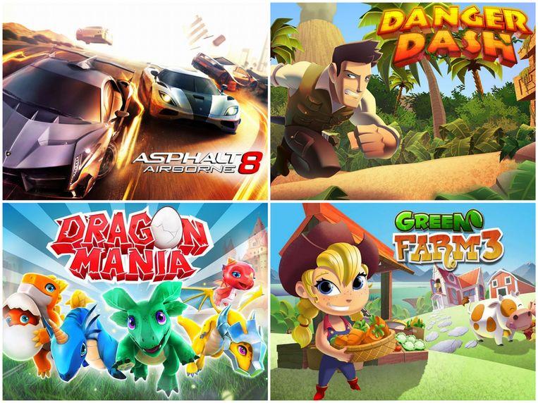 Er staan vier voor-geïnstalleerde spellen op de GameTab-One...slechts een is er echt geschikt voor de bediening met fysieke knoppen. Beeld BigBen/Gameloft