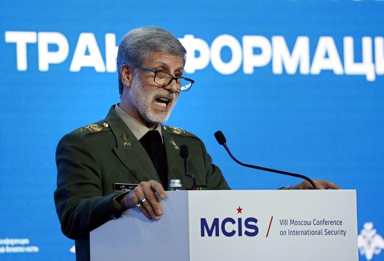 Iraans minister van Defensie Amir Hatami.
