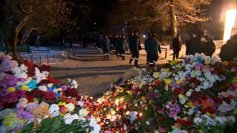 Wake in Rusland voor de 37 slachtoffers van de instorting van een flatgebouw.